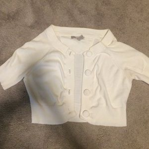 American Rag white short sleeve cardigan