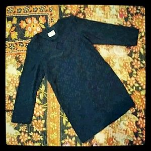 Vintage black early 1980's shift mini dress