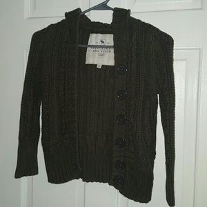 Abercrombie cropped knit cardigan