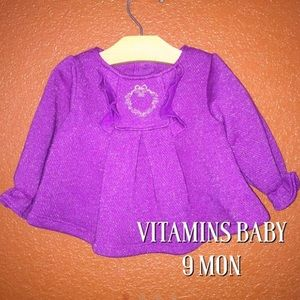Vitamins Baby Other - Vitamins Baby Purple Sparkle Sweater 9 Mon NEW