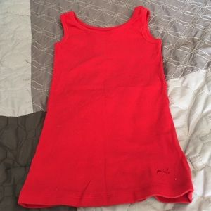 Girls red justice tank