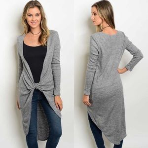 CLEARANCE Knot Twist Front Sweater Tunic
