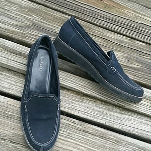 Bijou Shoes - Genuine leather/ suede /Navy loafers