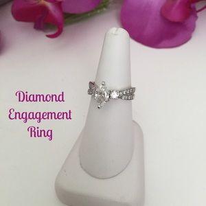Jewelry - ❗️SALE❗️Diamond Engagement Ring