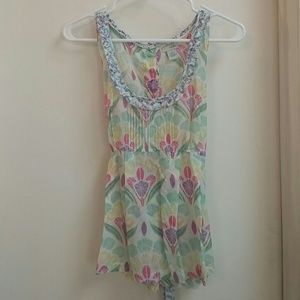 Sweet Anthro Odille Floral Tank