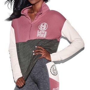 PINK Victoria's Secret Sweaters - Pink VS Soft Begonia Half Zip Hi Lo Pullover