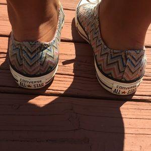 369437e23815 Converse Shoes - 👟Funky Chevron Print Converse👟