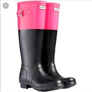 Like NEW-- Hunter Boots Color Block
