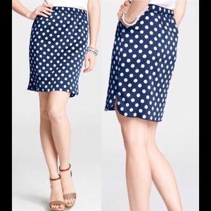 Shirttail Hem Polka Dot Pull On Skirt