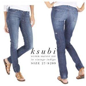 Ksubi Denim - ksubi👖Super Skinny Zip in Vintage Indigo Wash