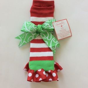 Mud Pie Other - 👫Mud Pie Santa Baby Leg Warmers