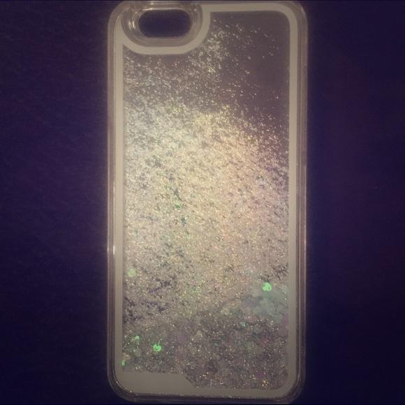 sale retailer baeea e89f7 Liquid glitter heart iPhone6 case NWT