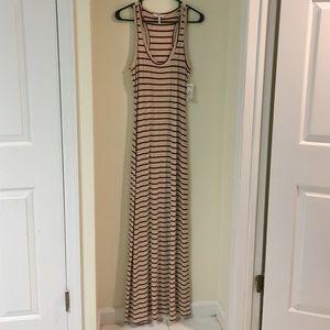 Kirra Dresses - NWT Cream and Maroon Striped Maxi Dress