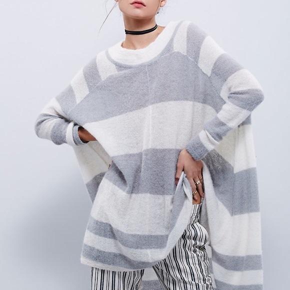 2aecc6f664 Free People Sweaters | Lafayette Striped Poncho | Poshmark