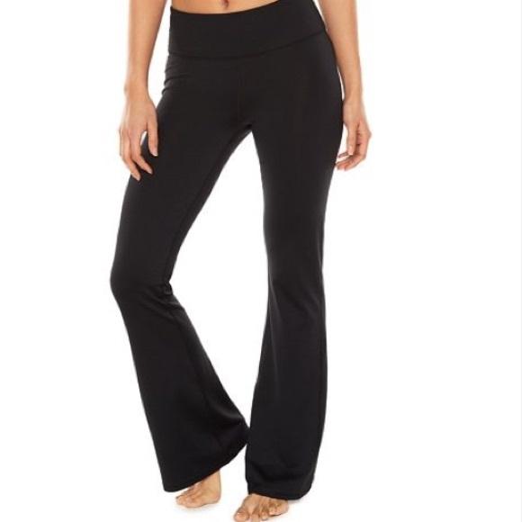 0fd438179f988 Jockey Pants - Jockey slim bootcut black yoga pants