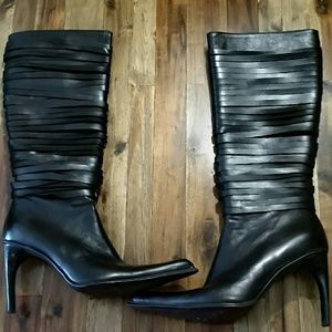 Paolo Iantorno   Shoes - 🌷Sunday Sale!🌷Hot blk leather ribbon cut boots