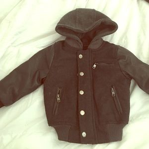 Urban Republic Other - 2t boys leather sleeves wool jacket