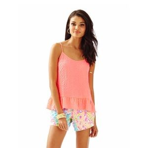 Lilly Pulitzer Coral Tank Top Pink Sun Ray