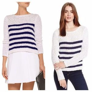 Rebecca Taylor Striped Chunky Knit Sweater