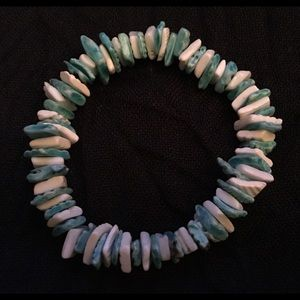 Jewelry - Blue/White Puka Shell Bracelet