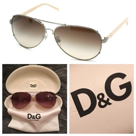 c6d1a67c837b Dolce   Gabbana Accessories - D G Aviator Sunglasses DD6047 Gunmetal Brown  EUC