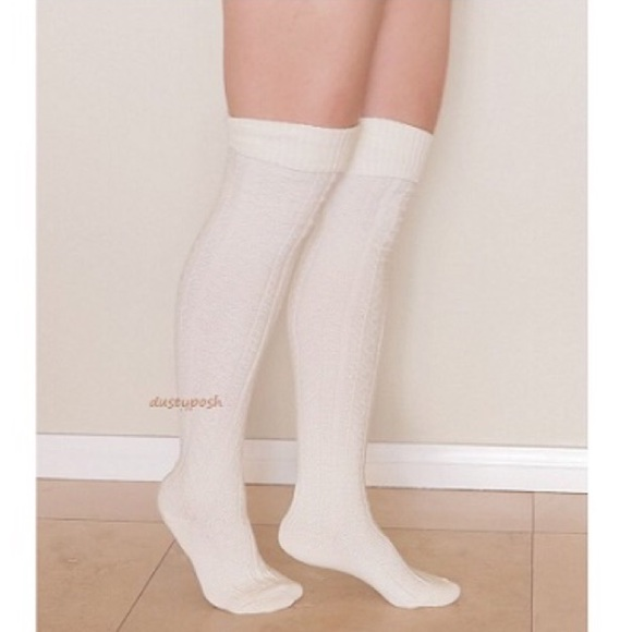 932797e6cbc Cable Knit Thigh High Over The Knee Socks Boot OTK