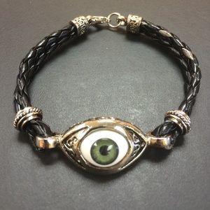 Jewelry - Green Evil Eye Bracelet.