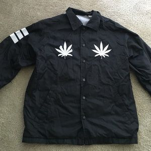 Plant life windbreaker from sorella boutique.