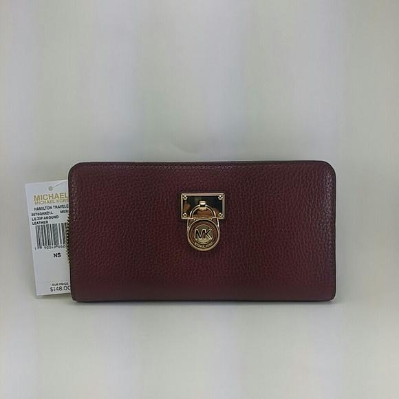 michael kors hamilton wallet black