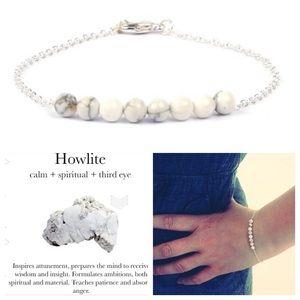 2 leftMarble howlite stone bracelet