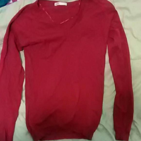 Burgundy long sleeve shirt