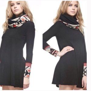 •Aztec print scarf dress•