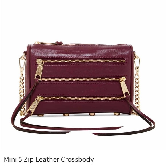 Rebecca Minkoff Handbags - Mini 5 Zip Leather Crossbody