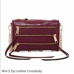 Rebecca Minkoff Bags - Mini 5 Zip Leather Crossbody
