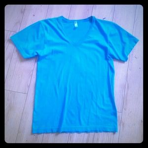 American Apparel Stretchy V-Neck Tee Size S