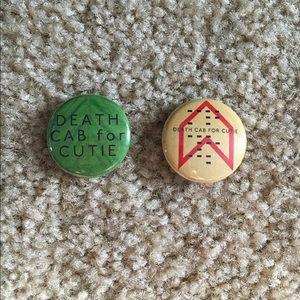 Death Cab for Cutie pins