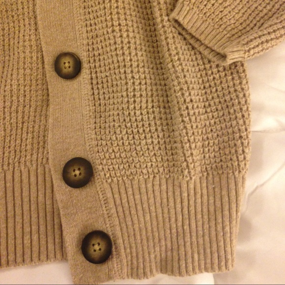 Lands' End - Thick soft chunky tan cardigan from Shauna's closet ...