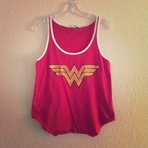Junk Food Clothing Tops - Wonder Woman Tank Top
