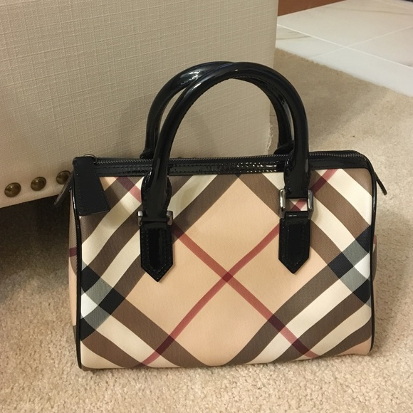 a8a50765fb78 Burberry Handbags - Burberry Supernova Check Bowling Bag