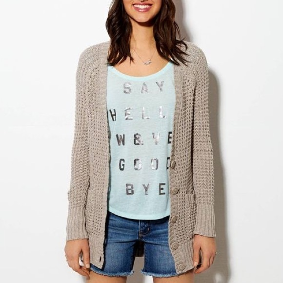 42% off American Eagle Outfitters Sweaters - American Eagle Tan ...