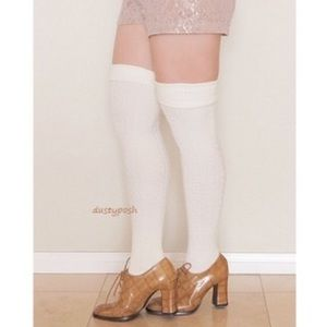 HUE Accessories - Knit Thigh High Over The Knee Socks Fold Cuff Fall