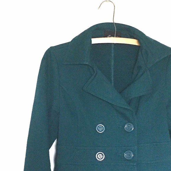 60% off Forever 21 Jackets & Blazers - Teal PeaCoat from Katrina's ...