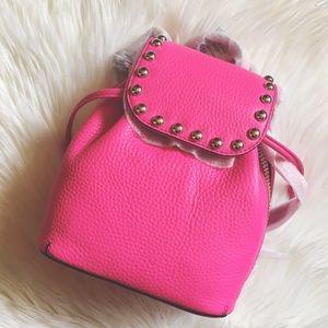 Rebecca Minkoff Handbags - Rebecca Minkoff Pink Studded Micro Backpack 💗