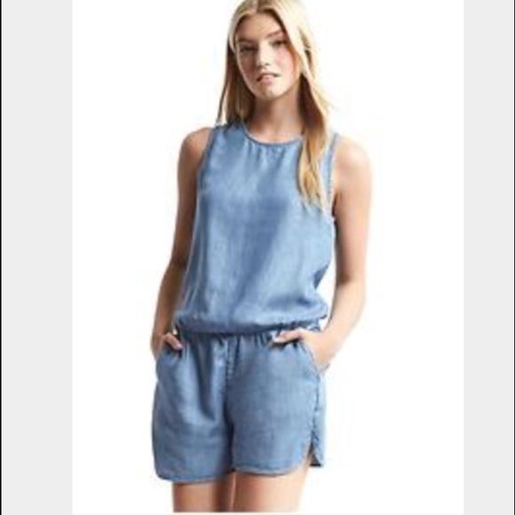 a36d0dd20529 GAP Dresses   Skirts - Gap Tencel Denim Tank Romper