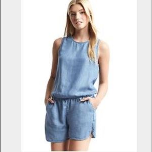 Gap Tencel Denim Tank Romper