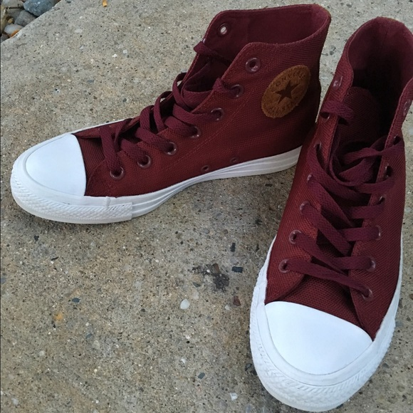 4467630d2f3 Converse Shoes   Burgundy All Star Hi Backpack Sneaker   Poshmark
