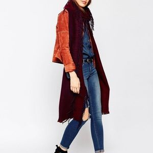 ASOS Accessories - ASOS Reversible Long Scarf With Side Fringe