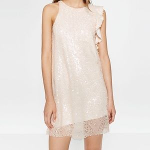 Zara Dresses & Skirts - Zara blush pink sequin dress