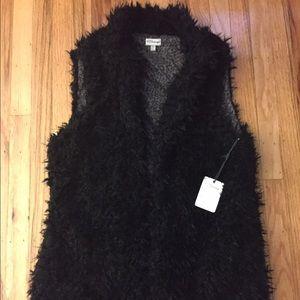 LOWEST P.J. Salvage Faux Fur Shag Vest