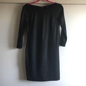 Black 3/4 sleeve dress